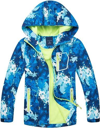 Funnycokid Rain Jacket Kids Waterproof Girls Raincost Windbreakers Soft Funny Graphic with Pockets 2-9 Years
