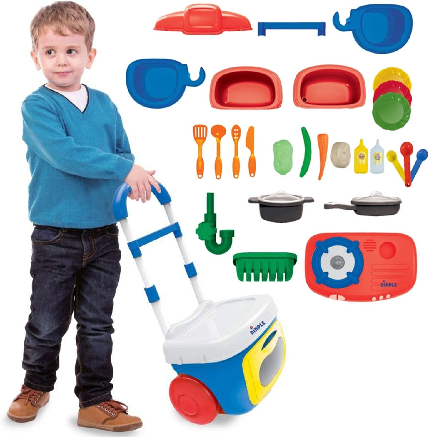 Dimple On The Go Carrier Toy Kitchen Set (30Piece Set)