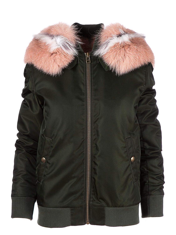 Brand Size XS MR&MRS ITALY Women's BB054XNRRF3583 Green Polyester Jacket