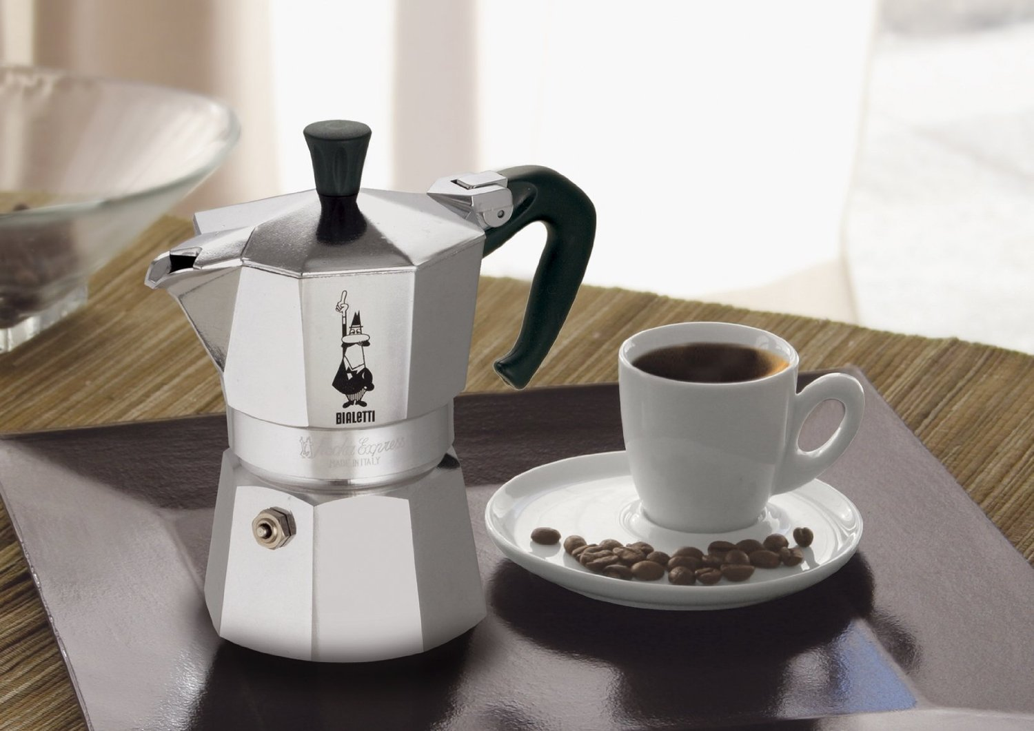 Bialetti Moka Express Stovetop Espresso Maker and Filter (3-Cup)