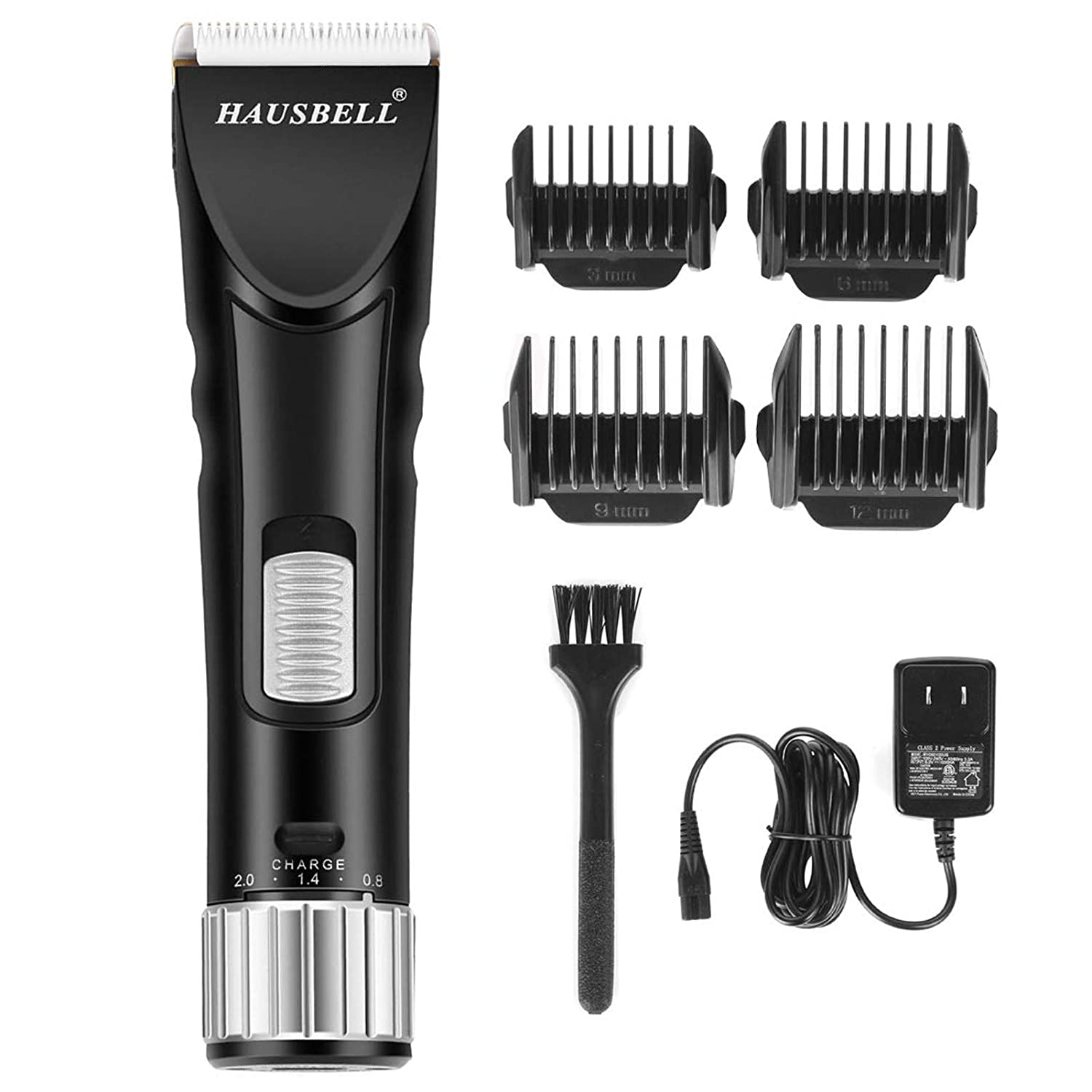 HAUSBELL Hair Clippers, Hair Trimmer, Beard Trimmer for Men, Cordless Rechargeable Mustache Trimmers, Hair Cutting Kit, Barber Clippers, Grooming Kit for Men, Shaver for Head, Face, Beard and Body