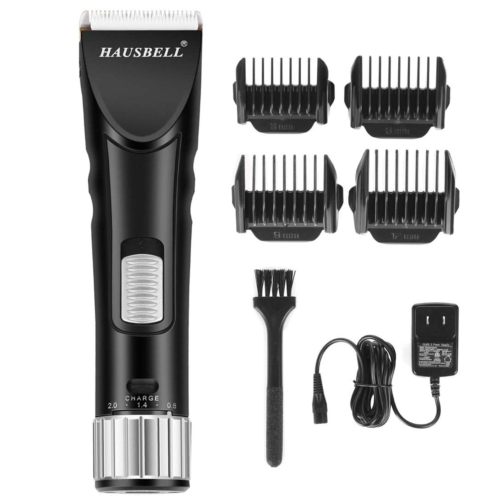 HAUSBELL Hair Clippers, Hair Trimmer, Beard Trimmer for Men, Clippers for Hair Cutting, Barber Clippers, Grooming Kit for Men, Cordless Rechargeable Shaver for Mustache Head Face Beard and Body