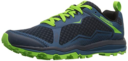 Merrell Men s All Out Crush Light Trail Running Shoes  Green Bright Green