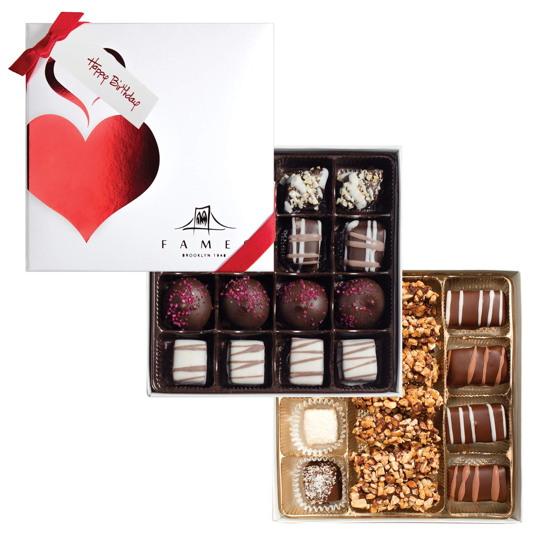 CDM product Happy Birthday Chocolate Gift Box - Gourmet Chocolates with Gift Ribbon, (31Pc) big image