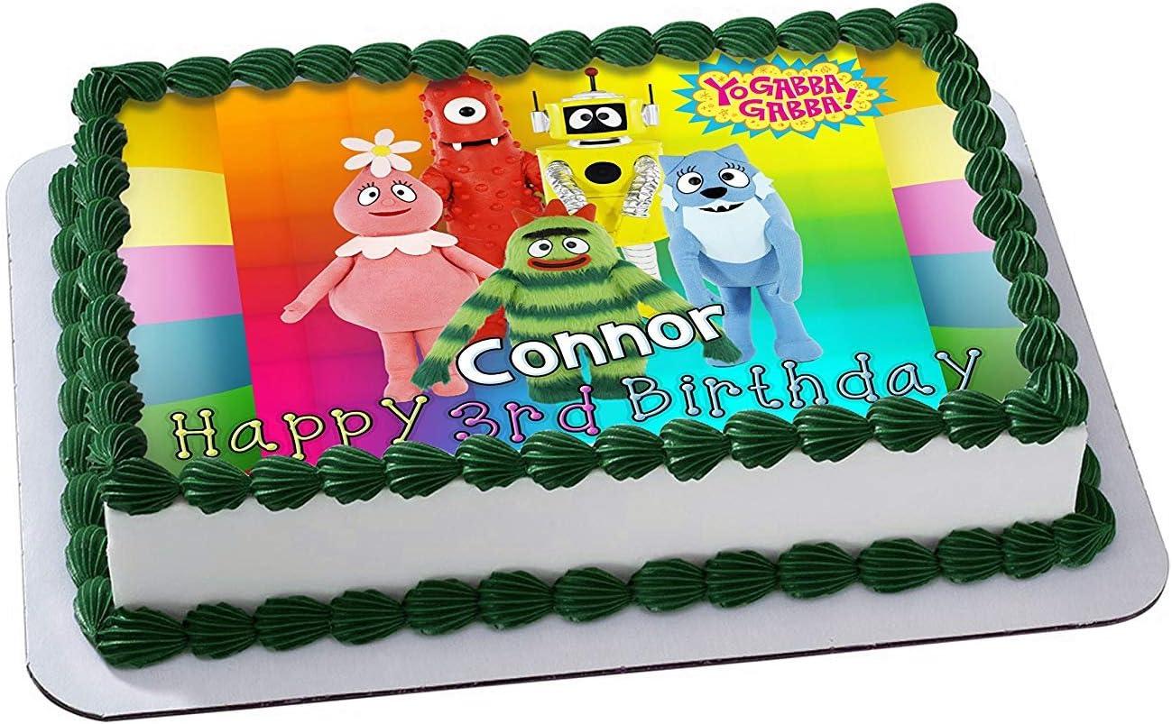 Fine Amazon Com Yo Gabba Gabba Edible Image Cake Topper Personalized Funny Birthday Cards Online Elaedamsfinfo