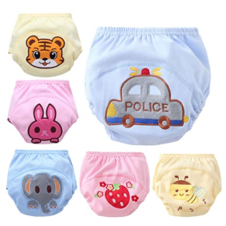 FYGOOD fyfood – Juego de 6 bebé Niño/Niña Aprendizaje Pañales Trainer Pantalones Ropa Interior