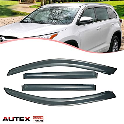 Amazon.com  AUTEX Tape-on Window Visor Deflectors Fits for 2008 2009 ... d320f4924a4