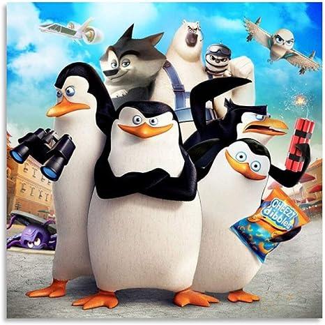 Amazon Com Sdfsd Póster De Los Pingüinos De Madagascar 4 19 7 X 19 7 In Home Kitchen