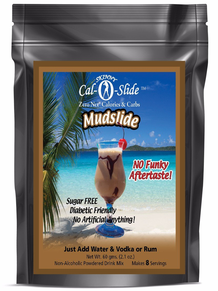 Skinny Cal-O-Slide (TM) Zero Calorie All Natural Mudslide Cocktail Mix, 48 Servings by Prescribed For Life