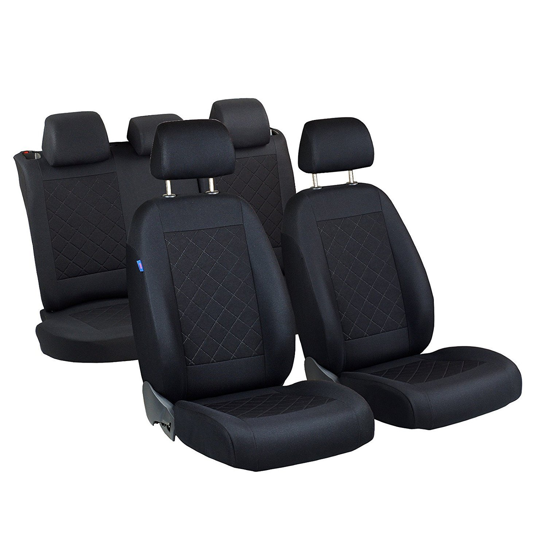 /1/set/ Matrix Fundas de asiento/ /Producto Premium Negro tintada cuadros