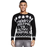 Momo&Ayat Fashions Mens Merry Christmas Ya You Filth Animal Filthy Jumper Size Small-XL
