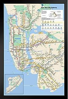 Queen Subway Map Nyc.Amazon Com Pyramid New York City Subway Poster Print Nyc Poster