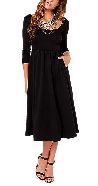 Sheinside - Vestido - para mujer negro Large