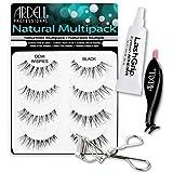 Ardell Fake Eyelashes Value Pack - Natural Multipack Demi Wispies, LashGrip Strip Adhesive, Dual Lash Applicator - Everything You Need For Perfect False Eyelashes