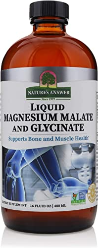 Nature s Answer Liquid Magnesium Malate and Glycinate Supports Healthy Bone Muscle Function Promotes Healthy Cardiovascular Function Gluten-Free Vegan 16oz