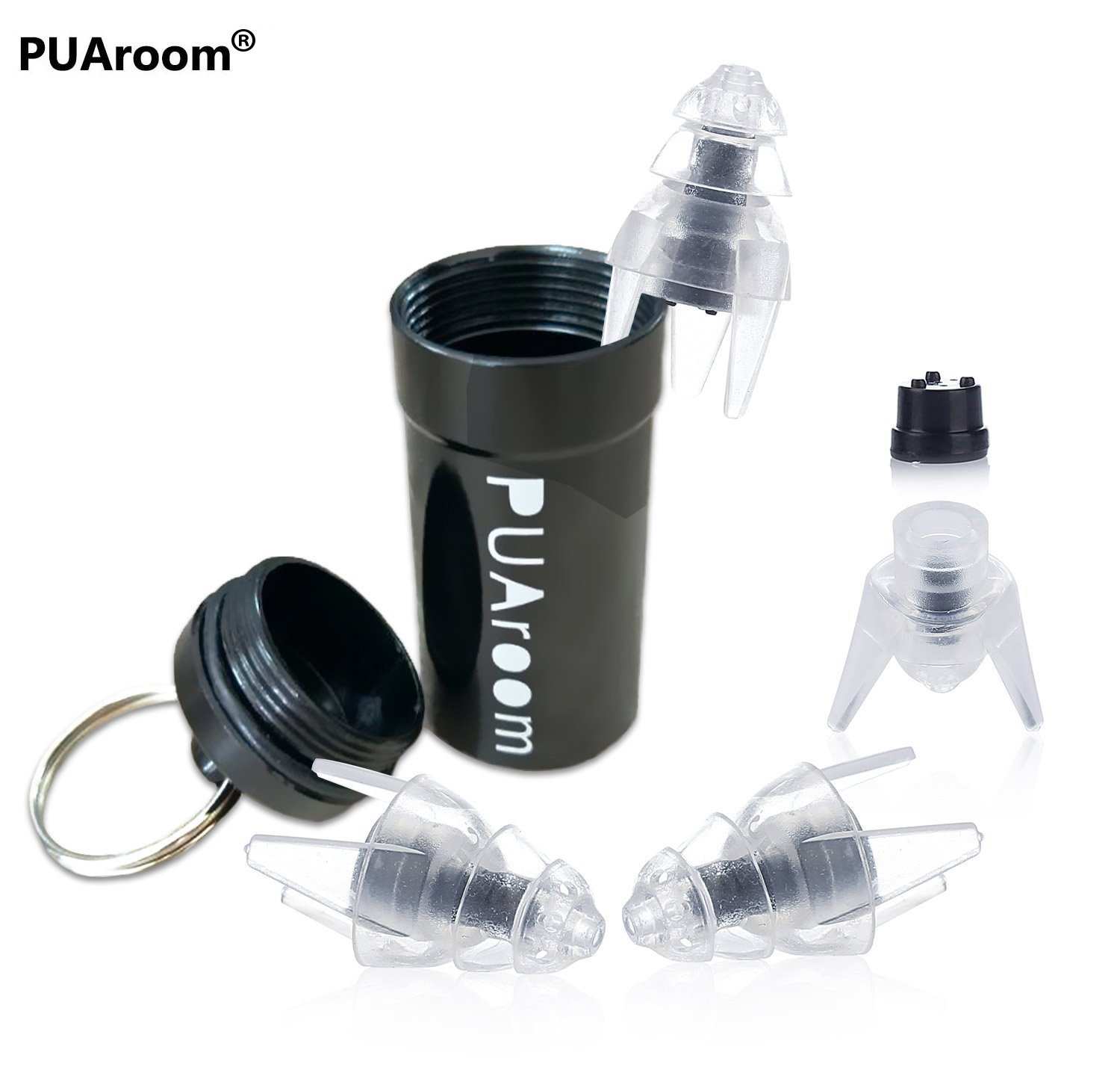PUAroom SleepingPro Noise Cancelling Sleep Ear Plugs Silicone Reusable Hearing Protection Earplugs for Sleeping,Army,Shooting,Swimming and Flying