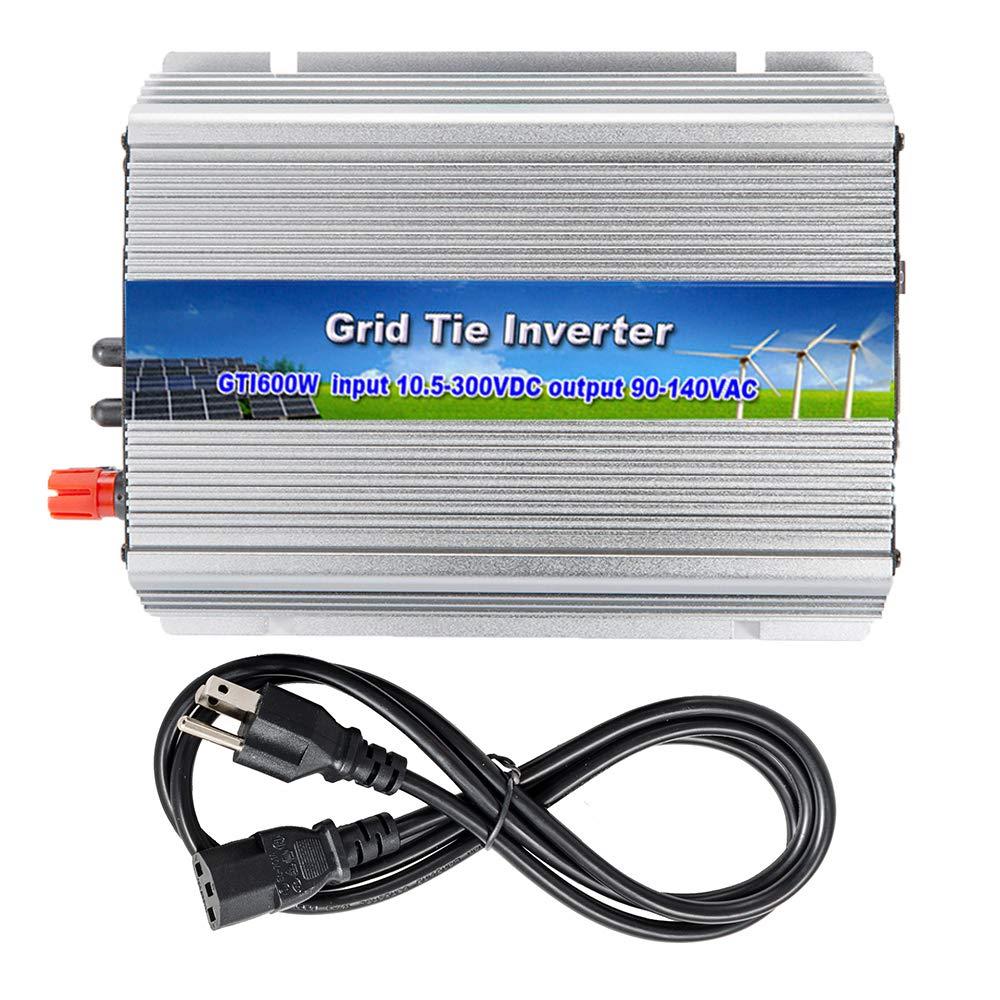 iMeshbean 250W 300W 500W 600W 1000W 2500W Grid Tie MPPT Power Inverter Converter for Solar Panel and Wind Turbine Generator System Stackable Pure Sine Wave USA (600W Solar Input 10.8v - 30v DC)