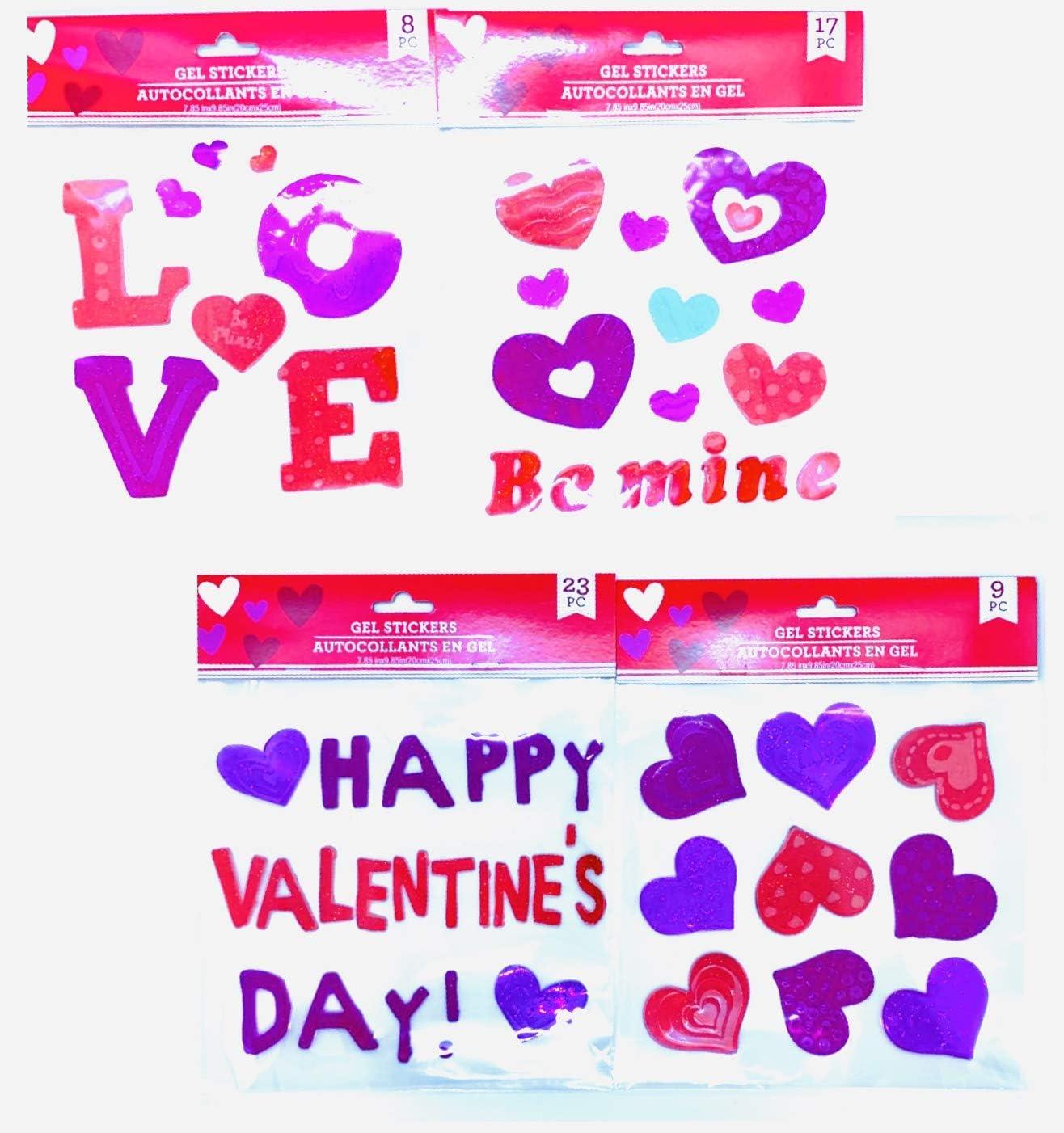Valentine/'s Day  Window Gel  VALENTINE