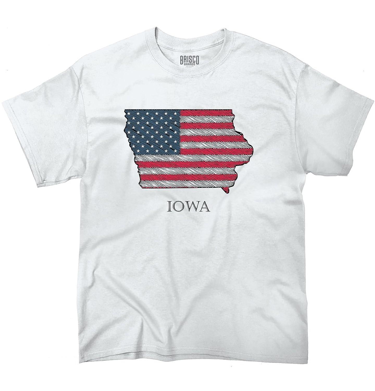 Iowa State Pride American Flag USA Patriotic Gift Ideas Cool T-Shirt Tee