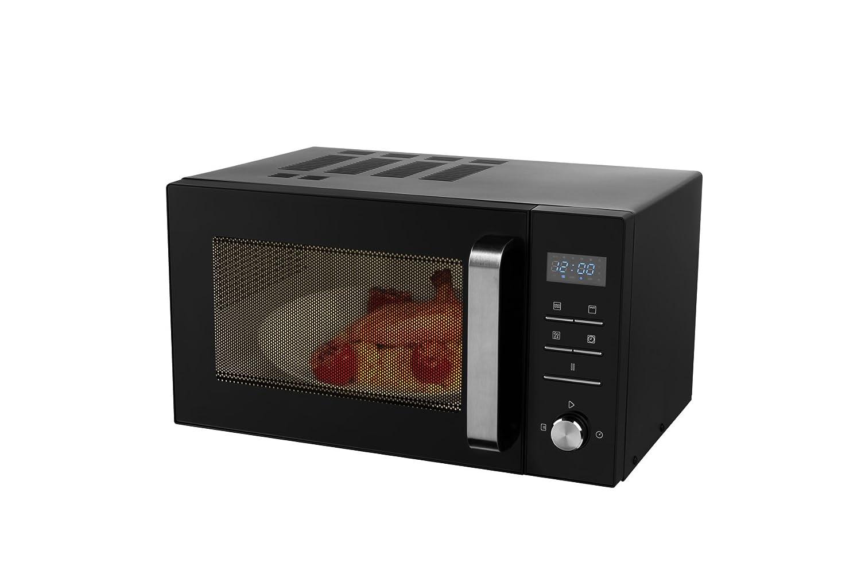 Medion MD 18042 - Microondas con grill, 900W, grill de 1000W, combinación de microondas y grill de 23 L, 8 programas automáticos, función de descongelación, color negro MD18042