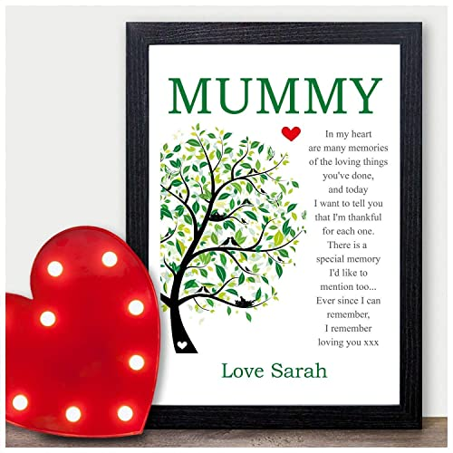 Personalised Poem Keepsake Mum Mummy Mother Birthday Gifts Presents Nan Nanny