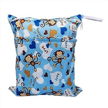 Amazon.com: LBB sólido bebé paño húmedo y seco bolsa de ...