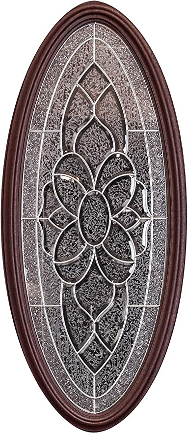 Left-Hand, Single Door with sidelight 12X36X12X80 Total Size 60x80 Craftsman Dark Mahogany Finish Left Hand in Swing Pre-Hung Fiberglass Prehung Front Door with 2X 12 Sidelites