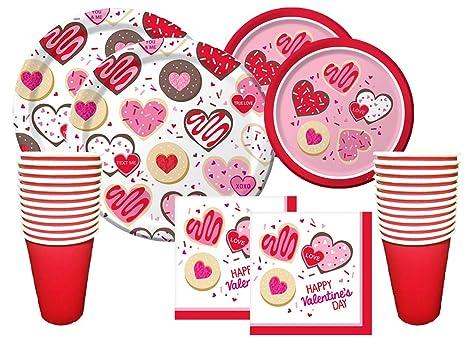 Amazon Com Valentines Day Party Premium Bundle For 16 Guests