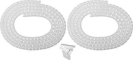 25mmx15m flexibler Spiralschlauch Drahtwickel Computer Verwalten Kabel weiß
