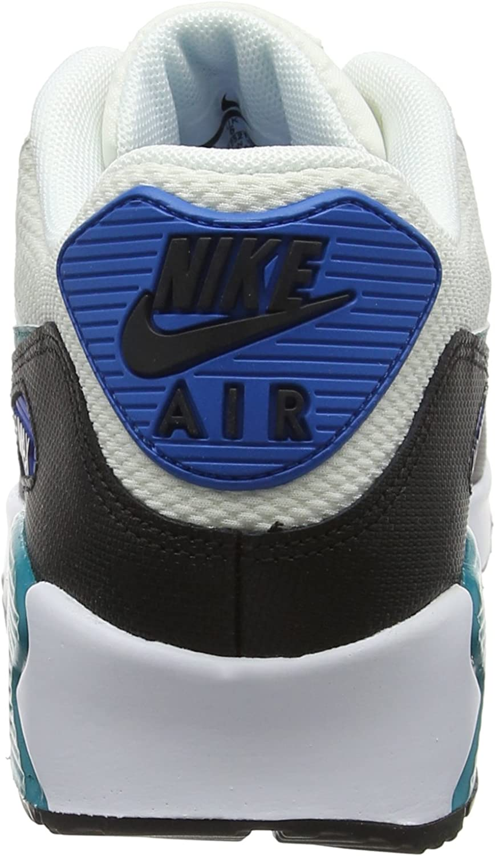 Nike WMNS Air Max 90, Chaussures de Gymnastique Femme Multicolore Voile Émeraude Rayonnante Noir Bleu Nébuleuse 134