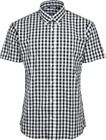 Relco Mens Checkered 9Mm Short Sleeved Shirt Mod Skin Retro Indie