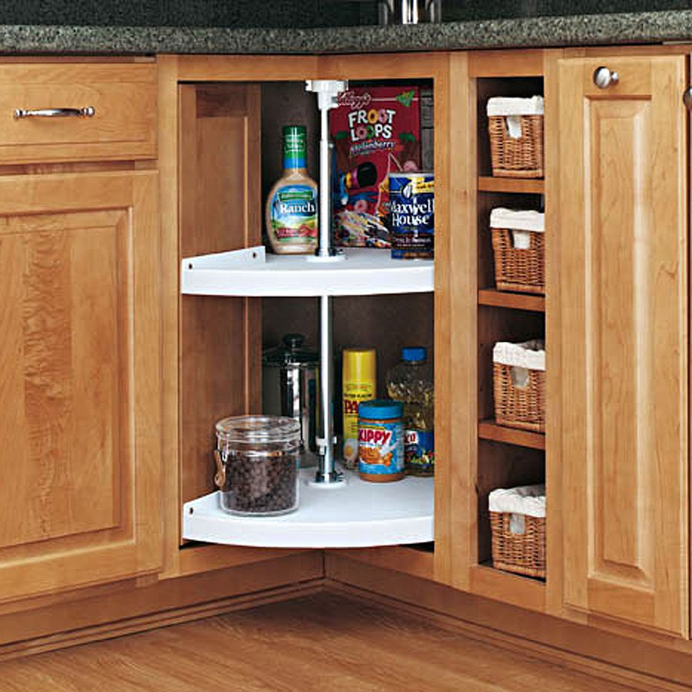 Amazon.com - Rev-a-Shelf Pie-Cut 2 Shelf Corner Lazy Susan -