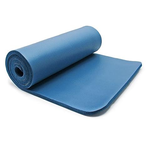 WilTec Esterilla Yoga Azul 180x60x1.5cm colchoneta Suelo ...