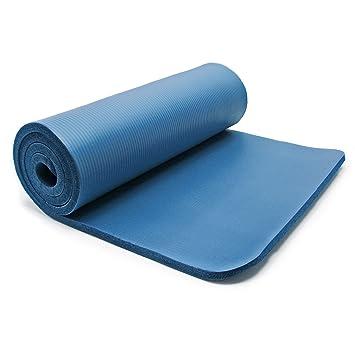 Esterilla yoga azul 180x60x1.5cm colchoneta suelo gimnasia ...