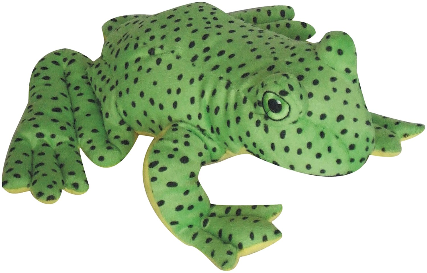 Patchwork Pet Spotted Frog 8-Inch Squeak Toy for Dogs