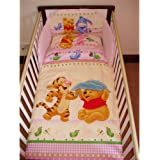 Disney Winnie & Tigger Bedding Set for Cot or Cotbed Pink (Cotbed - 140 x 70cm)