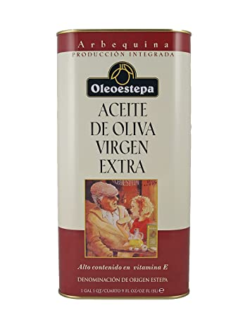 Oleoestepa Arbequina 5L Tin Spanish Extra Virgin Olive Oil 5 Liters (169 oz)