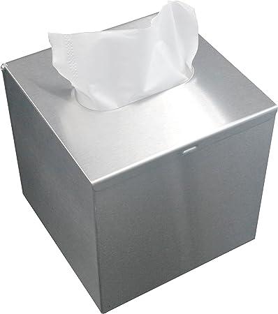 LEMON CLOUD Portapañuelos de Papel Caja de Pañuelos Acero Inoxidable Soporte para Toallas de Papel Estilo Industrial (Cuadrado): Amazon.es: Hogar