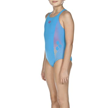 57faddbcba5b3 Arena Espiral - Girls  Swimming Costume turquoise Turquoise Fresia Rose  Size 11 years