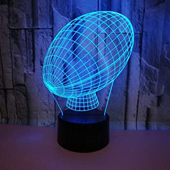 Cadeau Lampe Art Déco Enfants Anniversaire Décoration 3d Control Rugby 7 Couleurs Change Led Touch Usb Lumières Lampes Veilleuse Powered EW2DIH9Y