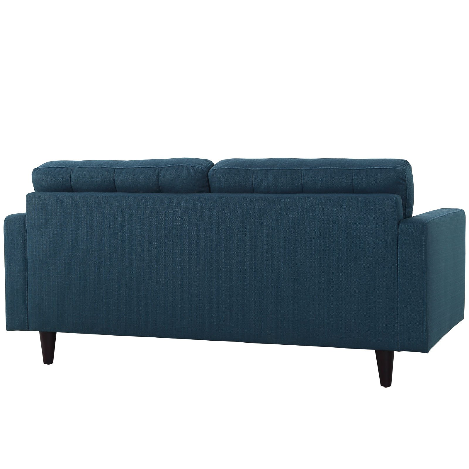 Modway Empress Mid-Century Modern Upholstered Fabric Loveseat In Azure by Modway (Image #4)