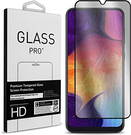Screen Protector for Samsung Galaxy A50, Conber 2 Pack Scratch-Resistant Anti-Shatter Premium Tempered Glass Screen Protector for Samsung Galaxy A50 Case Friendly