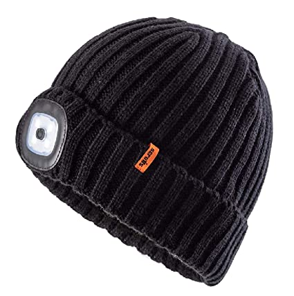 SCRUFFS NEW LINE     LED BEANIE WINTER HAT BLACK HANDS FREE TORCH   Amazon.co.uk  DIY   Tools 5069ac19588