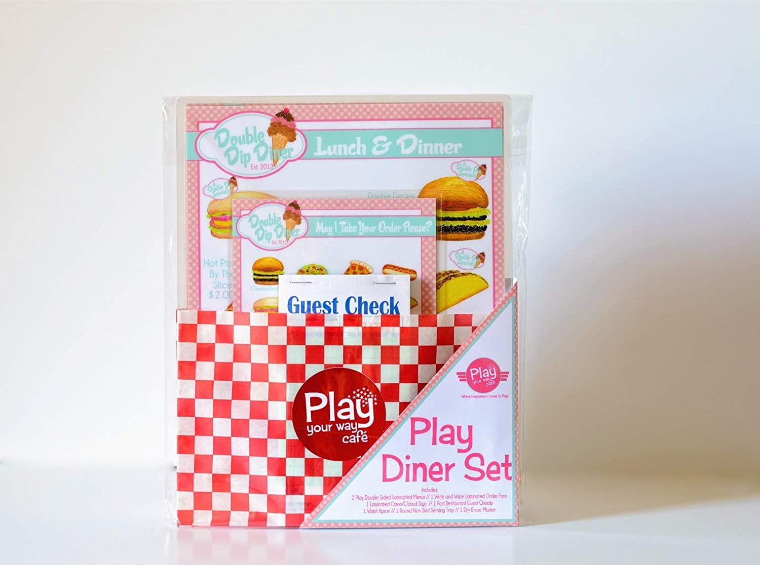 Pretend Play Restaurant Menu//Diner Set