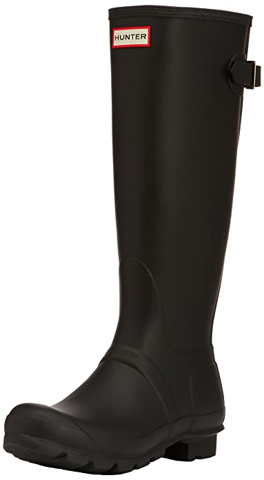 Amazon.com | Hunter Women's Original Back Adjustable Rain Boots ...