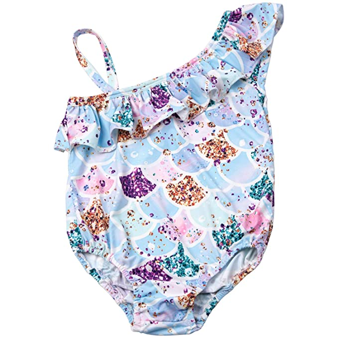 Amazon.com: Traje de baño de una pieza con unicornio ...