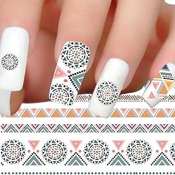 Amazon 1 Sets Elegant Flower Triangle Nail Art Stickers Diy