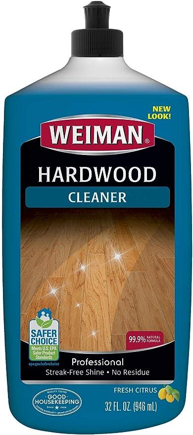 Amazon Com Weiman Hardwood Floor Cleaner Surface Safe No Harsh