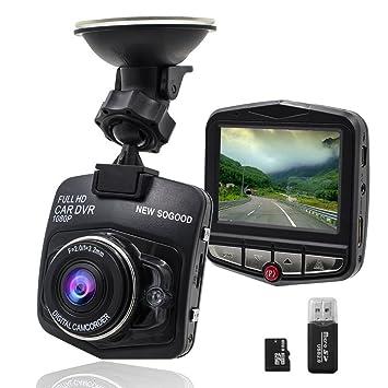 THINK SOGG - Cámara de vídeo HD 1080P para coche, lente gran angular de 170