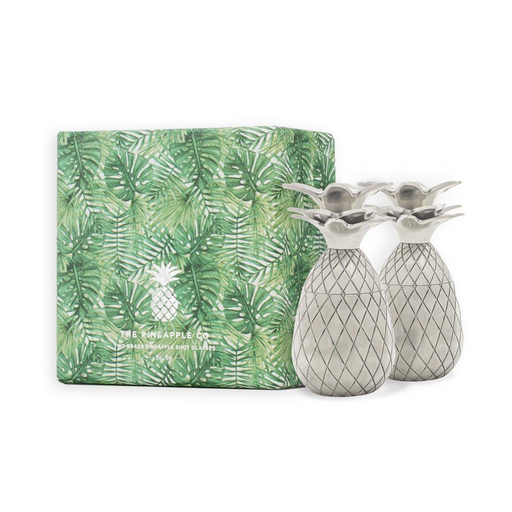 Silver W/&P Design MAS-Pines-2 The Pineapple Shot Glasses